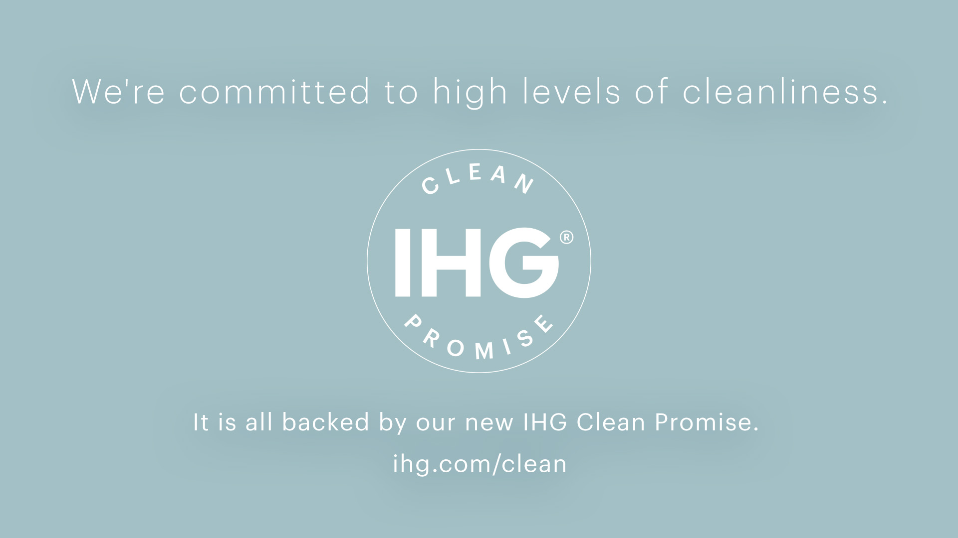 cleanliness ihg promise
